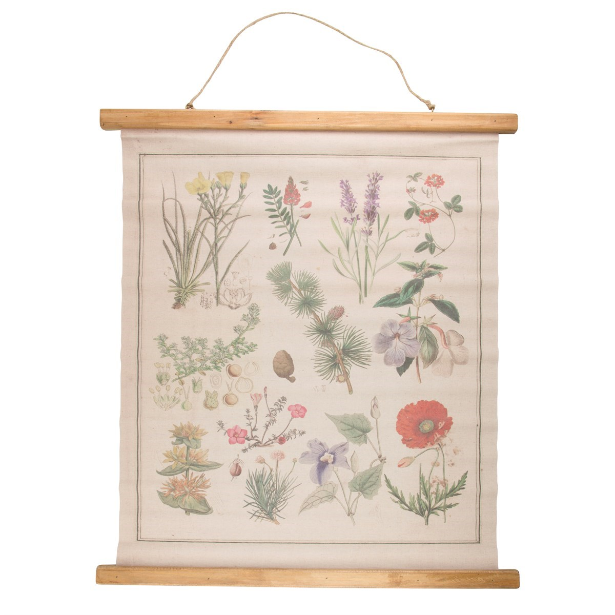 Wildflower wall hanging canvas print for Homeware decor