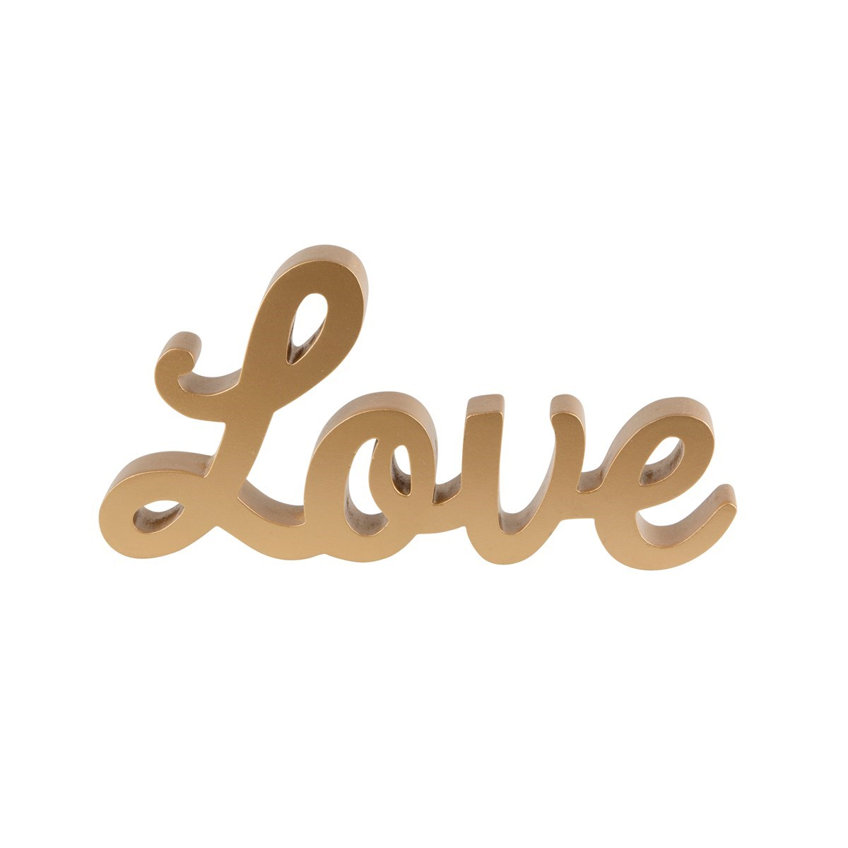 gold love standing letters With love in gold letters