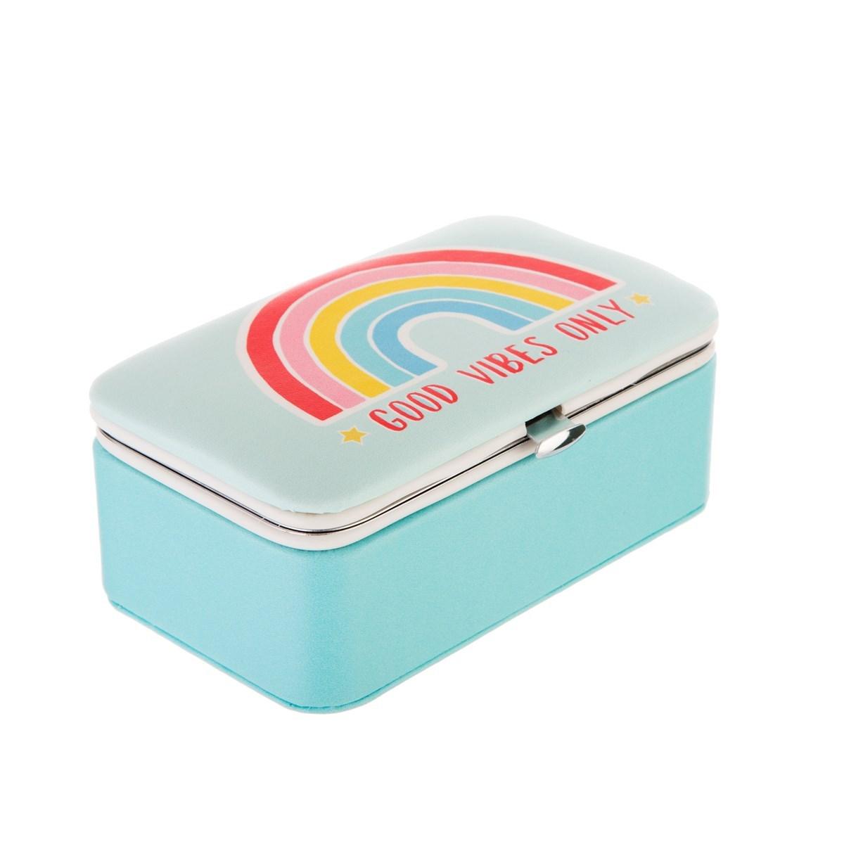 Chasing Rainbows Mini Travel Jewellery Box