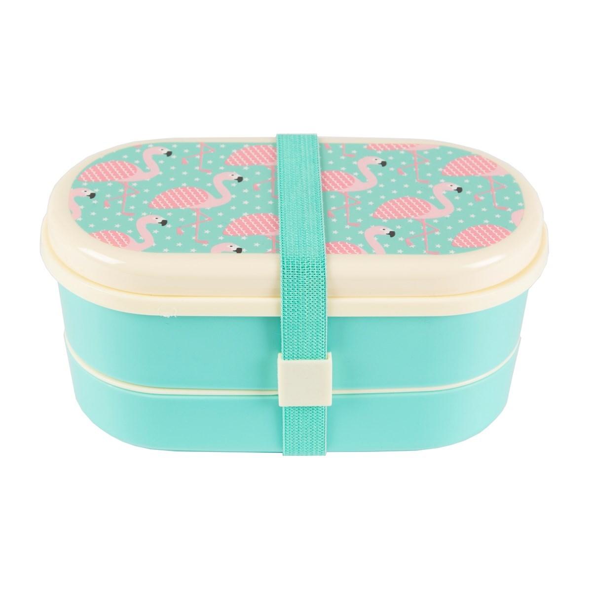 tropical flamingo bento lunch box. Black Bedroom Furniture Sets. Home Design Ideas