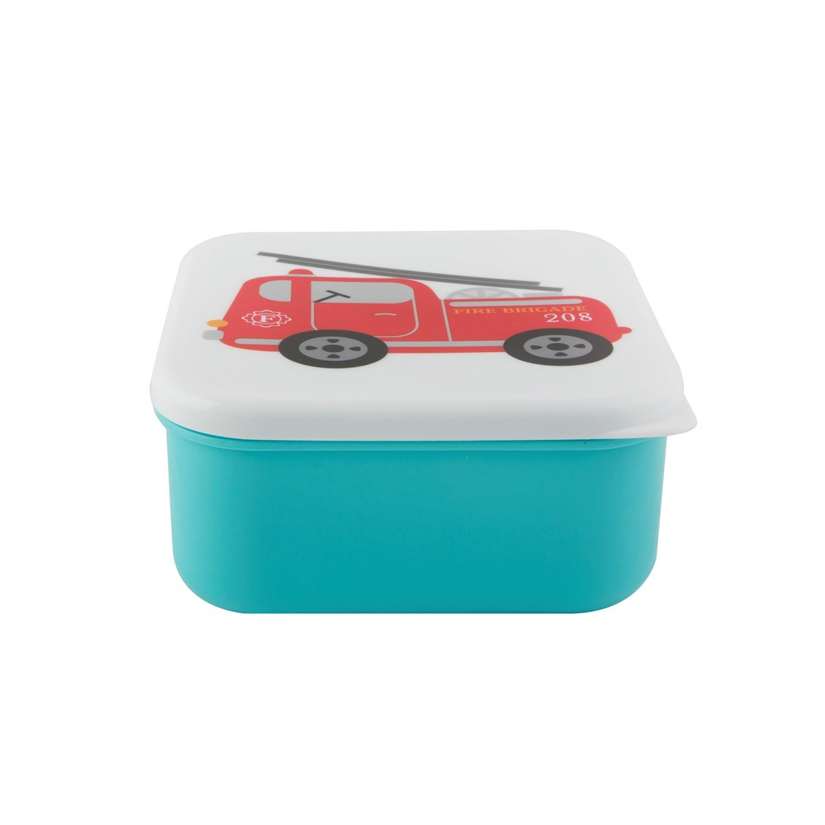 fire engine square lunch box. Black Bedroom Furniture Sets. Home Design Ideas