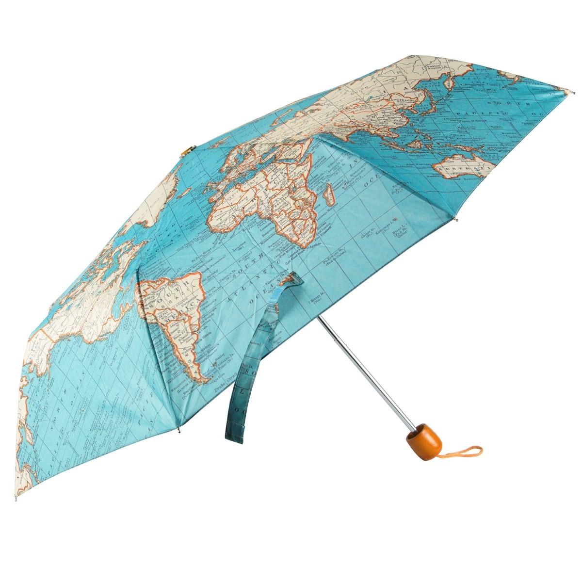 Vintage map folding umbrella vintage map folding umbrella default image gumiabroncs Images