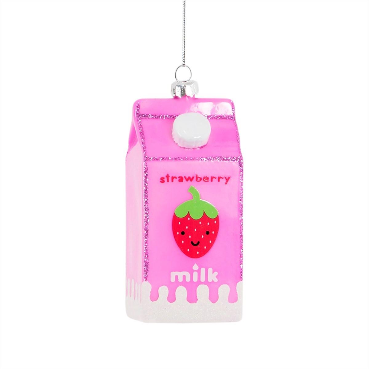 Strawberry Milk Carton Hanging Decoration