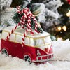 Coming Home For Xmas Love Camper Van Shaped Bauble Default Image