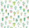 Pastel Cactus Wrapping Paper Default Image