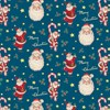 Retro Santa Wrapping Paper  Default Image