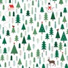 Festive Forest White Wrapping Paper Default Image