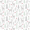 Winter Forest Folk Deer Wrapping Paper Default Image