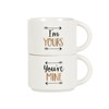 Set of 2 You'Re Mine & I'm Yours Stacking Mugs Default Image